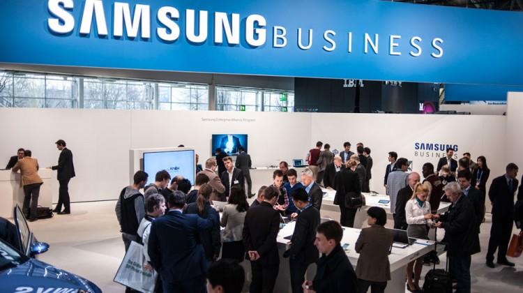 Erfolgreiche Messe: Auf dem 1.700 m2 großen Stand auf der CeBIT 2015 präsentierte Samsung seine neue Marke Samsung Business.